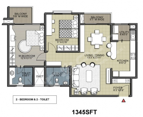 Salarpuria Greenage Floor Plan