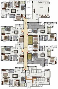 Salarpuria-exotic-tower-2-cluster-plan-typical-floor